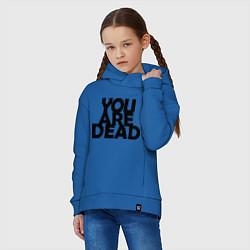 Толстовка оверсайз детская DayZ: You are Dead цвета синий — фото 2