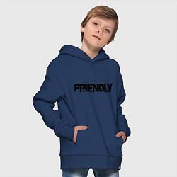 Толстовка оверсайз детская DayZ: Im friendly цвета тёмно-синий — фото 2