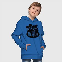 Толстовка оверсайз детская The Beatles Band цвета синий — фото 2