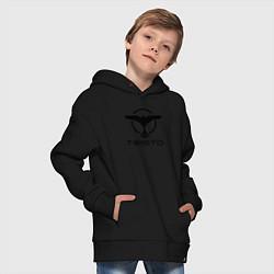 Толстовка оверсайз детская Tiesto цвета черный — фото 2