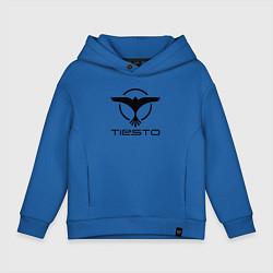 Толстовка оверсайз детская Tiesto цвета синий — фото 1
