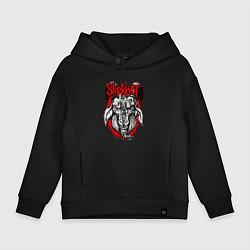 Толстовка оверсайз детская Slipknot Goat цвета черный — фото 1