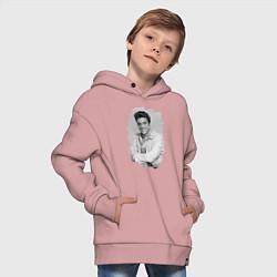 Детская хлопковая толстовка оверсайз с принтом Король классики, цвет: пыльно-розовый, артикул: 10068389606093 — фото 2