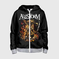Толстовка на молнии детская Alestorm: Flame Warrior цвета 3D-меланж — фото 1
