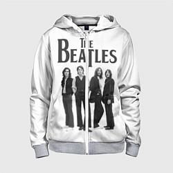 Толстовка на молнии детская The Beatles: White Side цвета 3D-меланж — фото 1
