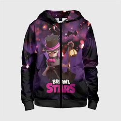 Толстовка на молнии детская Brawl stars Mortis Мортис цвета 3D-черный — фото 1