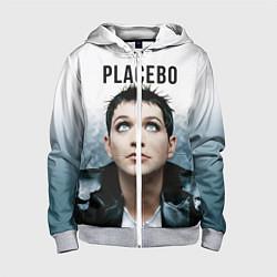 Толстовка на молнии детская Placebo: Brian Molko цвета 3D-меланж — фото 1