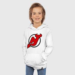 Толстовка детская хлопковая New Jersey Devils цвета белый — фото 2