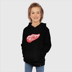 Толстовка детская хлопковая Detroit Red Wings цвета черный — фото 2