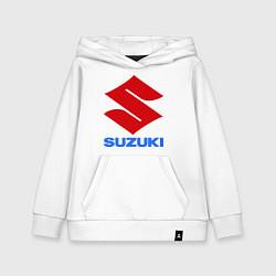 Толстовка детская хлопковая Suzuki цвета белый — фото 1