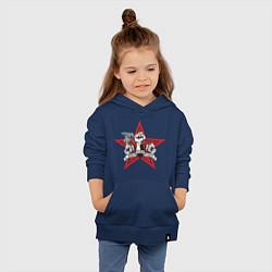 Толстовка детская хлопковая World freedom famous цвета тёмно-синий — фото 2