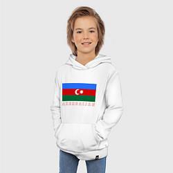 Толстовка детская хлопковая Азербайджан цвета белый — фото 2