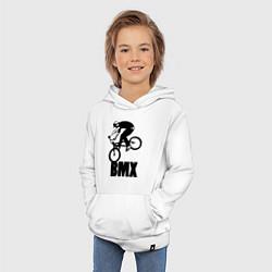 Толстовка детская хлопковая BMX 3 цвета белый — фото 2
