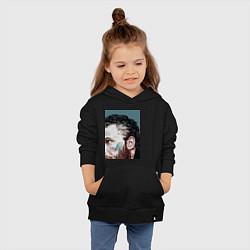 Толстовка детская хлопковая Том Харди Ван Гога цвета черный — фото 2