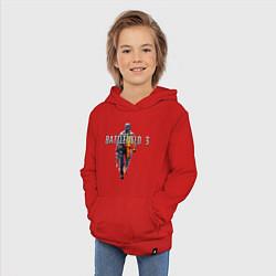 Толстовка детская хлопковая Battlefield 3 цвета красный — фото 2