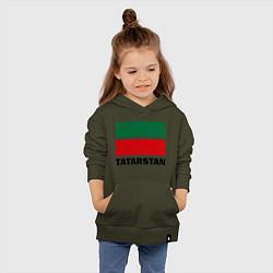 Толстовка детская хлопковая Флаг Татарстана цвета хаки — фото 2