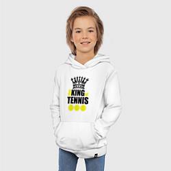 Толстовка детская хлопковая King of tennis цвета белый — фото 2