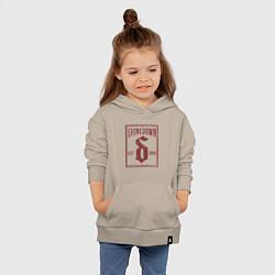 Толстовка детская хлопковая Shinedown est 2001 цвета миндальный — фото 2