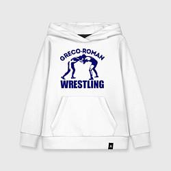 Толстовка детская хлопковая Greco-roman wrestling цвета белый — фото 1