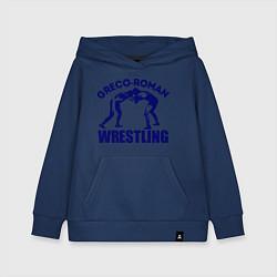 Толстовка детская хлопковая Greco-roman wrestling цвета тёмно-синий — фото 1