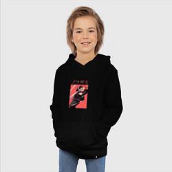 Толстовка детская хлопковая Бездомный бог цвета черный — фото 2