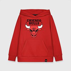 Толстовка детская хлопковая Chicago Bulls цвета красный — фото 1