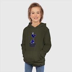 Толстовка детская хлопковая Tottenham FC цвета хаки — фото 2