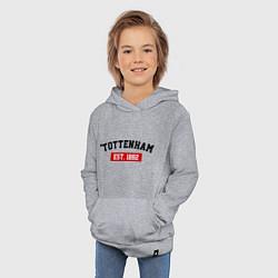Толстовка детская хлопковая FC Tottenham Est. 1882 цвета меланж — фото 2
