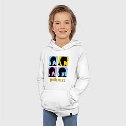 Толстовка детская хлопковая The Beatles: pop-art цвета белый — фото 2