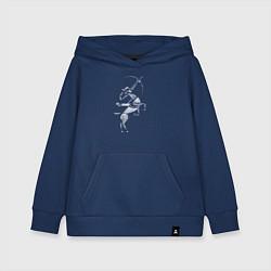 Толстовка детская хлопковая Звездный Стрелец цвета тёмно-синий — фото 1