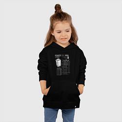 Толстовка детская хлопковая Доктор Кто, ТАРДИС цвета черный — фото 2