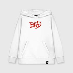 Толстовка детская хлопковая Song BAD цвета белый — фото 1