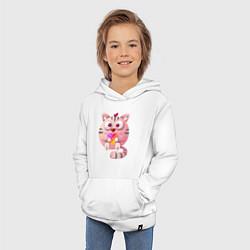 Толстовка детская хлопковая Котик Likee цвета белый — фото 2