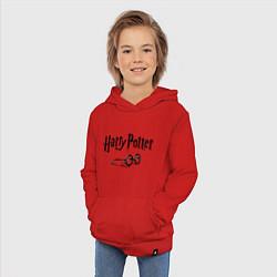 Толстовка детская хлопковая Гарри Поттер цвета красный — фото 2