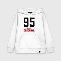 Толстовка детская хлопковая 95 Chechnya цвета белый — фото 1