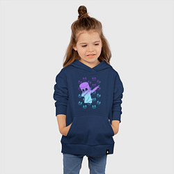 Толстовка детская хлопковая Fortnite,Marshmello цвета тёмно-синий — фото 2