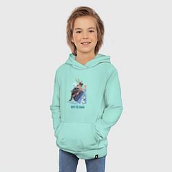 Толстовка детская хлопковая Frozen: Best Band цвета мятный — фото 2