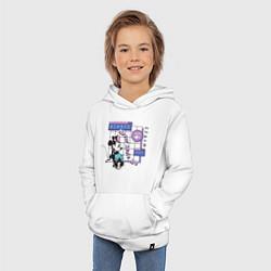 Толстовка детская хлопковая Минни Маус цвета белый — фото 2
