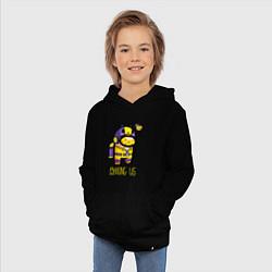 Толстовка детская хлопковая Among Us Пчела цвета черный — фото 2