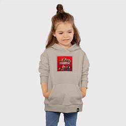 Толстовка детская хлопковая Roblox цвета миндальный — фото 2