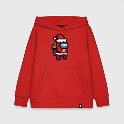 Толстовка детская хлопковая AMONG US CHRISTMAS 1 цвета красный — фото 1