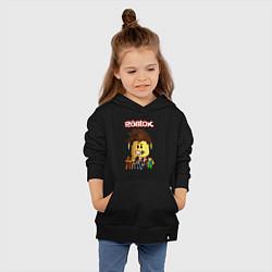 Толстовка детская хлопковая ROBLOX цвета черный — фото 2