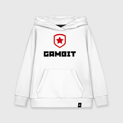 Толстовка детская хлопковая Gambit цвета белый — фото 1