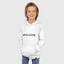 Толстовка детская хлопковая #FOLLOWME цвета белый — фото 2