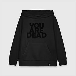 Толстовка детская хлопковая DayZ: You are Dead цвета черный — фото 1