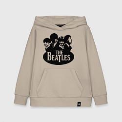 Толстовка детская хлопковая The Beatles Band цвета миндальный — фото 1