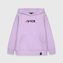 Толстовка детская хлопковая Avicii цвета лаванда — фото 1