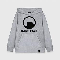 Толстовка детская хлопковая Black Mesa: Logo цвета меланж — фото 1