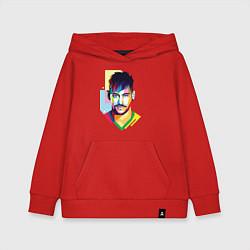 Толстовка детская хлопковая Neymar: fun-art цвета красный — фото 1