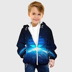 Куртка с капюшоном детская Космические войска цвета 3D-белый — фото 2
